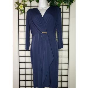 Charter Club Navy Blue Modern Chic Wrap Dress